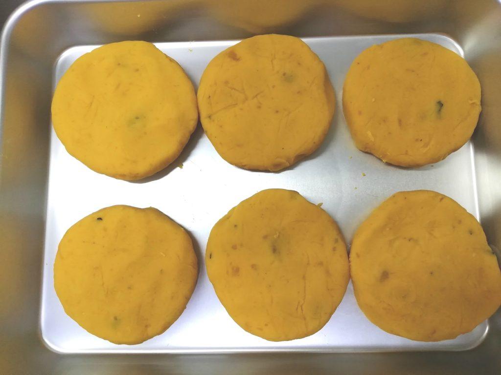 かぼちゃ団子 かぼちゃ餅 形成